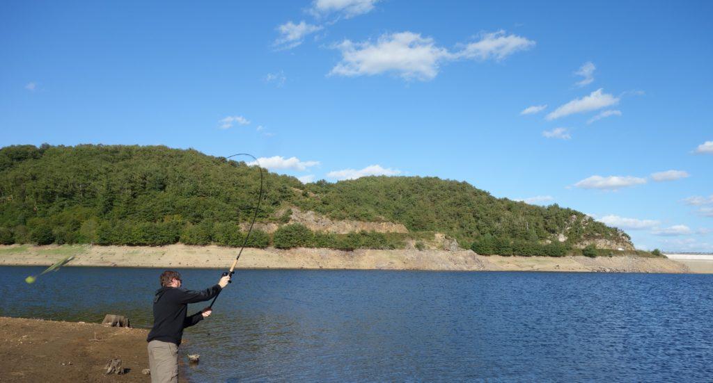 Lancer avec un moulinet big bait